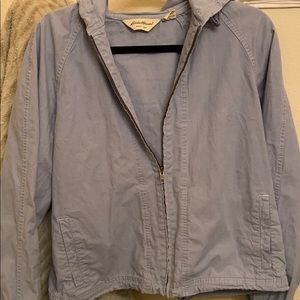 Eddie bauer denim blue raincoat